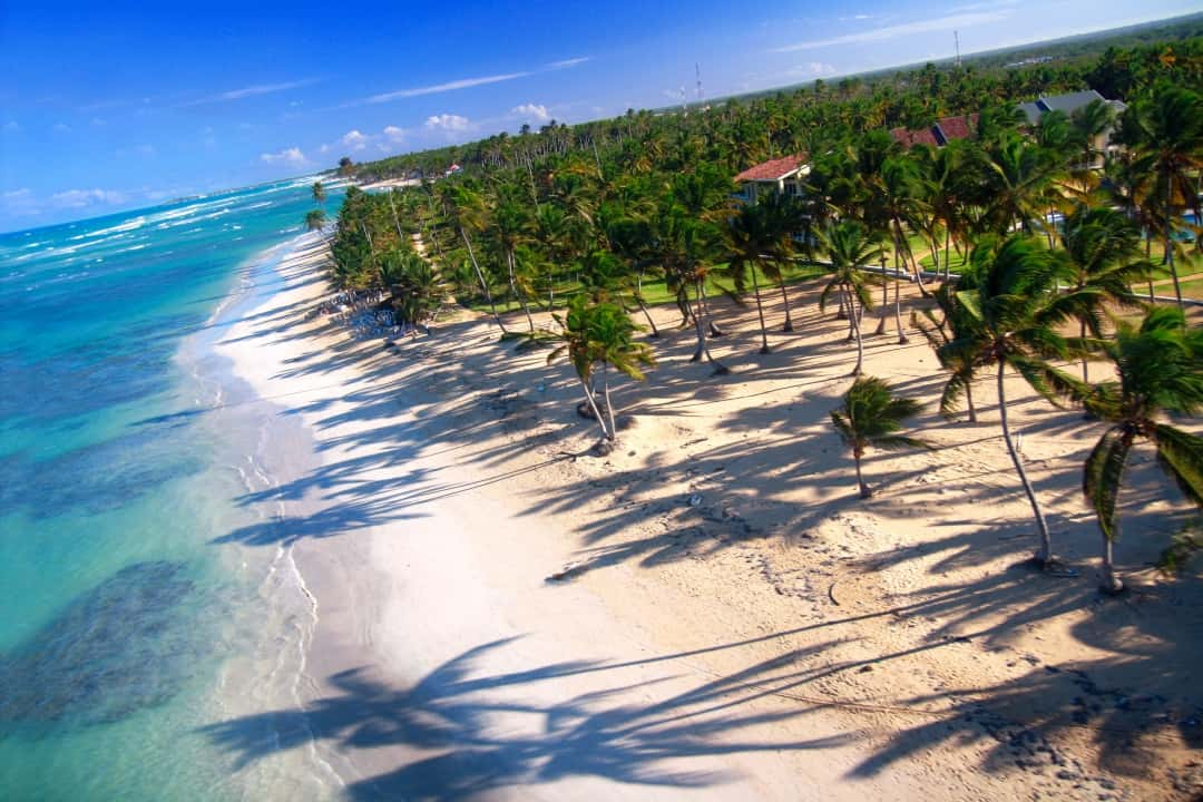 punta cana aerial beach photo