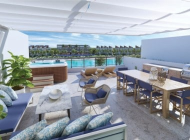 the beach rooftop penthouse rendering