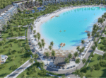 the beach aerial view rendering