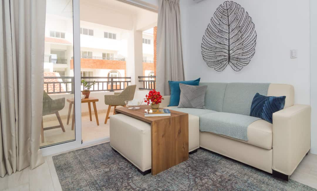 Coral Village 1 living room