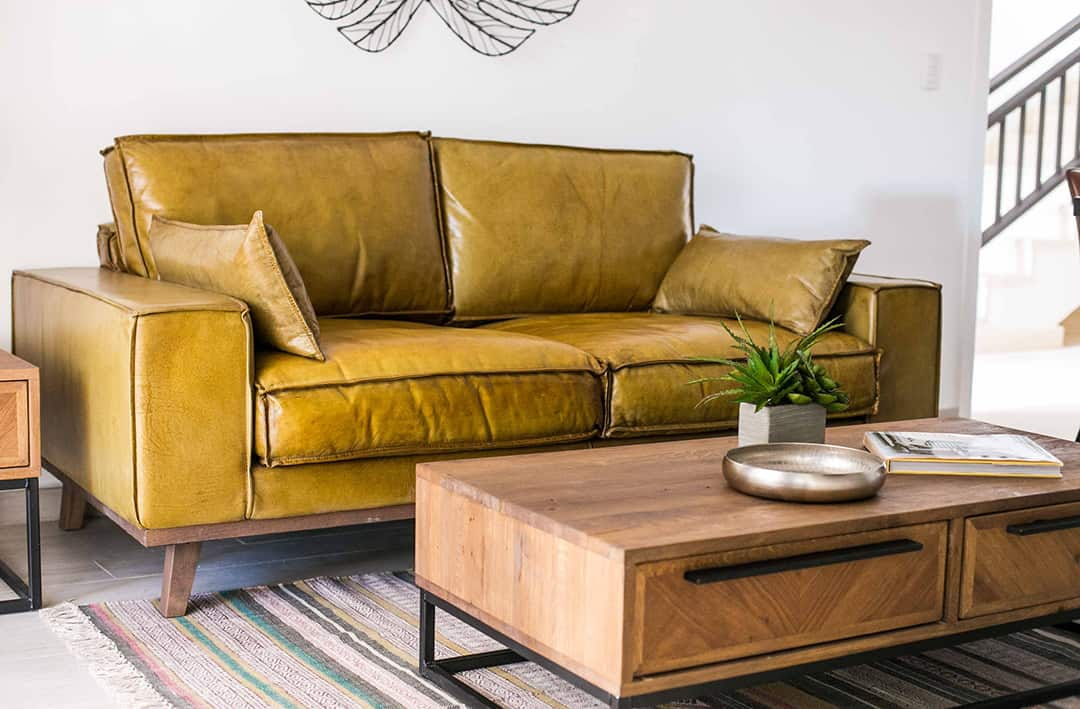 Coral Village couch