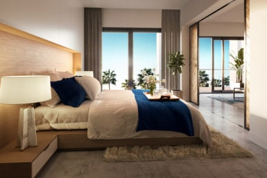 Paseo Playa Coral bedroom rendering
