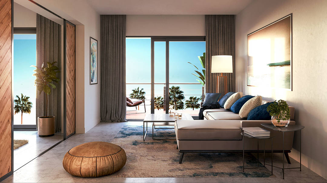 Paseo Playa Coral living room rendering