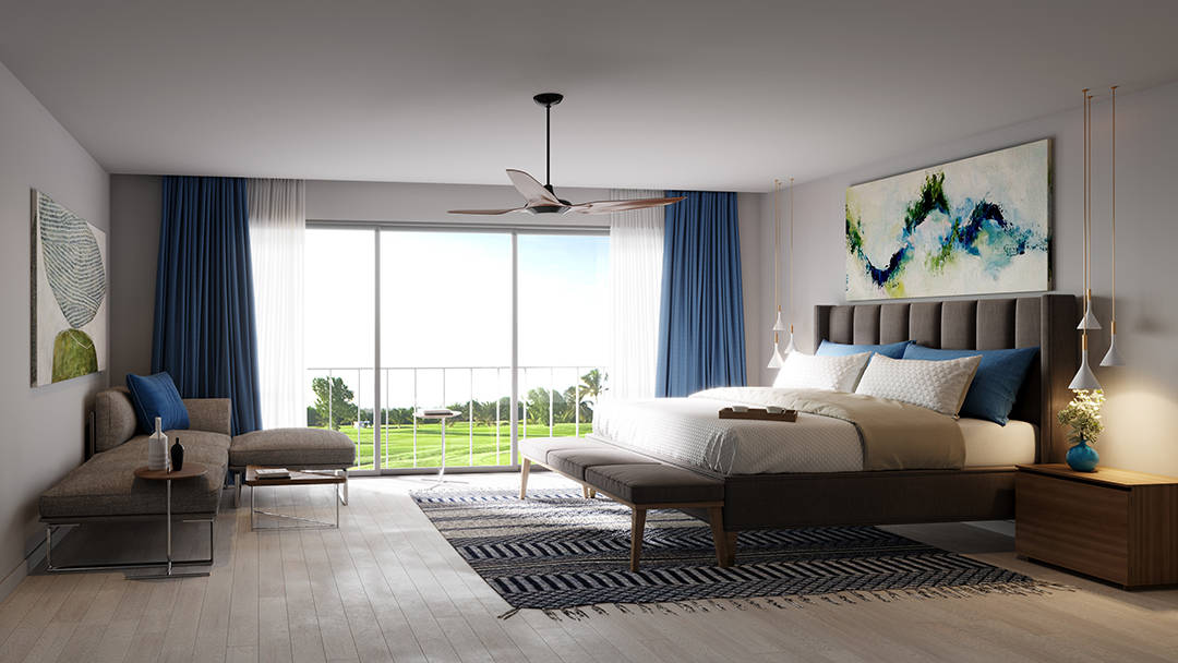 Paseo de Cocotal bedroom rendering