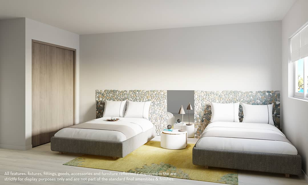 Playa Coral interiors 2 beds