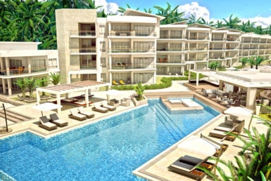 playa coral buildings swimming pool