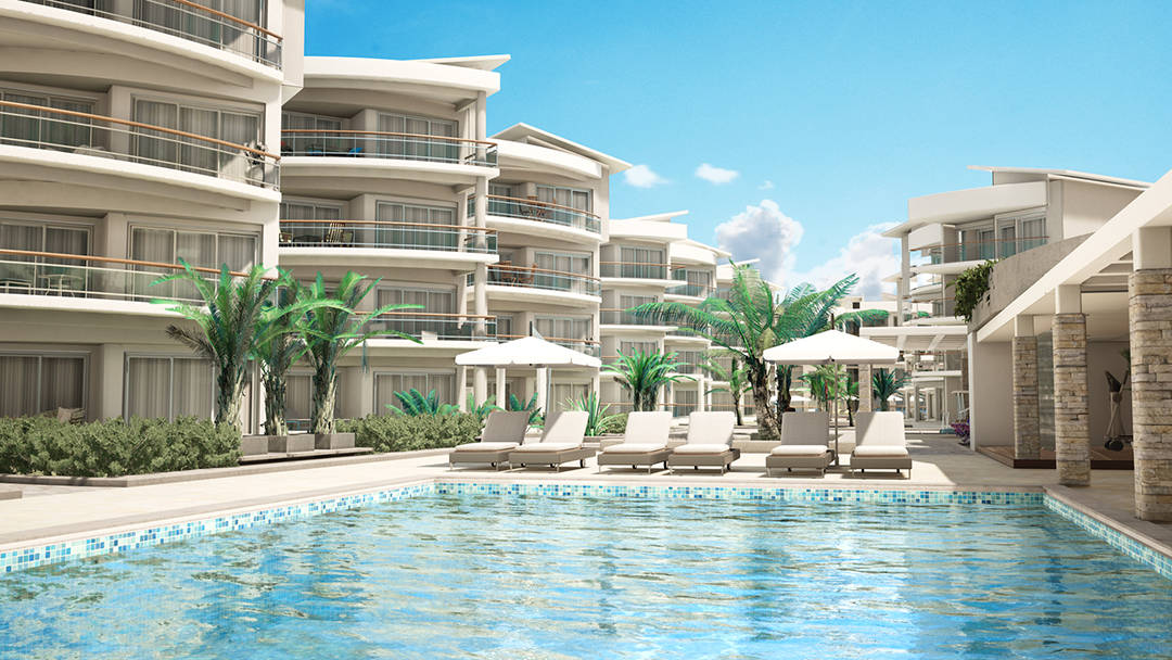 playa coral swimming pool rendering