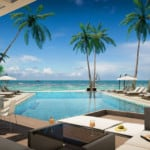 playa coral swimming pool with beach view